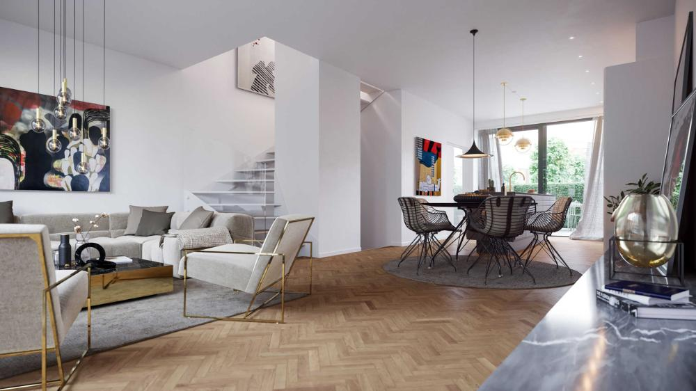 Oak - Herringbone Flooring